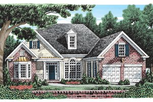 Traditional Exterior - Front Elevation Plan #927-390
