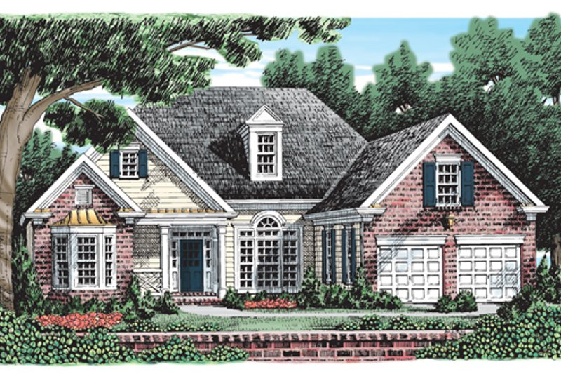Traditional Exterior - Front Elevation Plan #927-390 - Houseplans.com