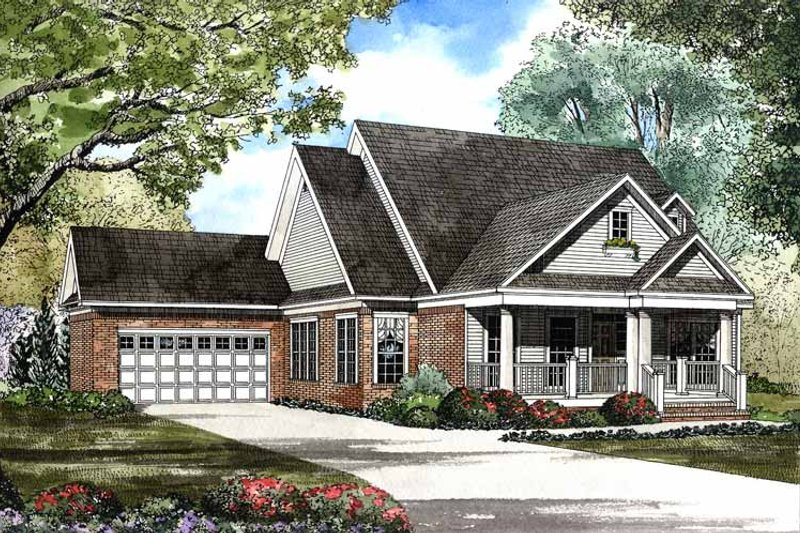 Country Exterior - Front Elevation Plan #17-2943