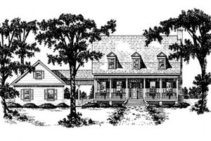 Country Exterior - Front Elevation Plan #36-212
