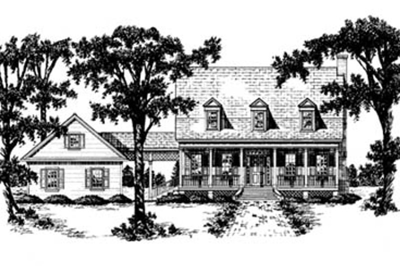 Country Style House Plan - 4 Beds 3 Baths 2475 Sq/Ft Plan #36-212 Exterior - Front Elevation