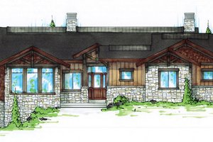Home Plan - Craftsman Exterior - Front Elevation Plan #945-138