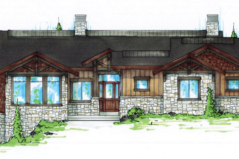 Craftsman Exterior - Front Elevation Plan #945-138