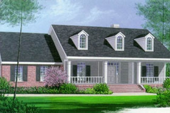 Southern Exterior - Front Elevation Plan #15-120