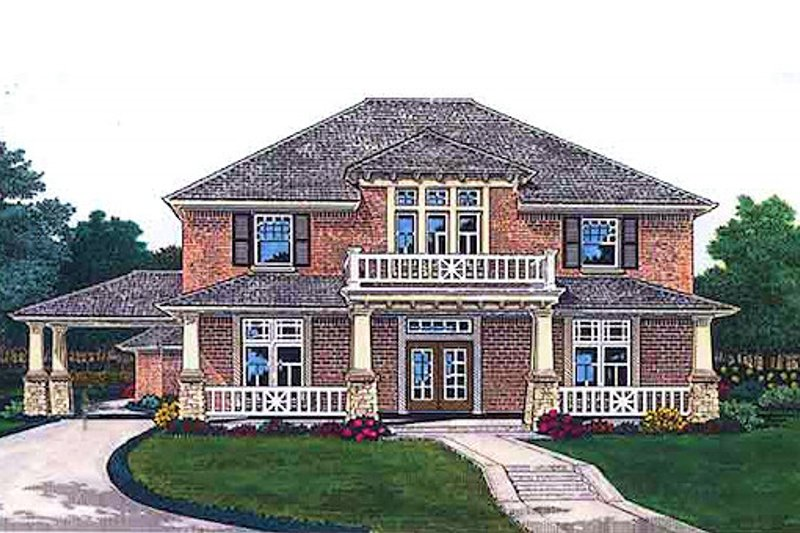 Colonial Exterior - Front Elevation Plan #310-704