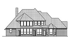 European Exterior - Rear Elevation Plan #84-467