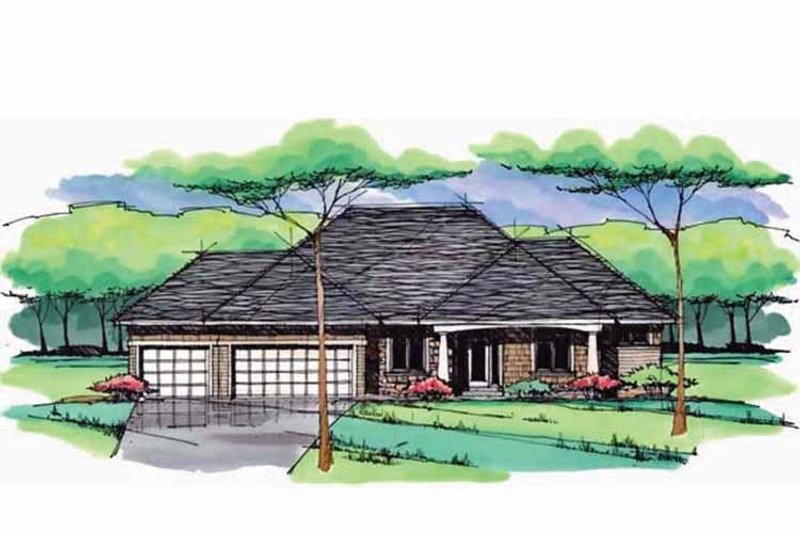 Prairie Exterior - Front Elevation Plan #51-967 - Houseplans.com