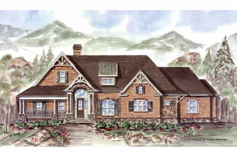 Ranch Exterior - Front Elevation Plan #54-361 - Houseplans.com