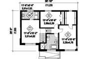 Contemporary Style House Plan - 2 Beds 1 Baths 1516 Sq/Ft Plan #25-4513 Floor Plan - Upper Floor Plan