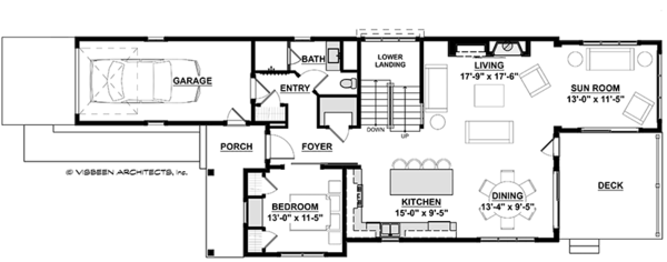 Traditional Floor Plan - Main Floor Plan Plan #928-286