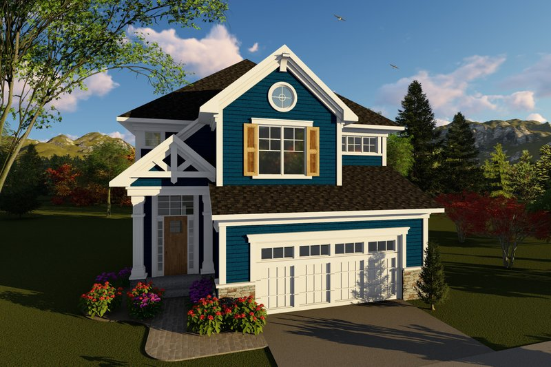Craftsman Exterior - Front Elevation Plan #70-1426