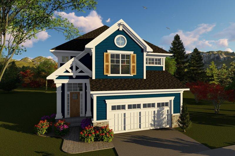 House Plan Design - Craftsman Exterior - Front Elevation Plan #70-1426