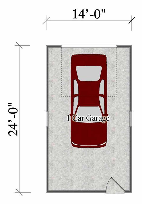 Craftsman Floor Plan - Main Floor Plan Plan #306-122