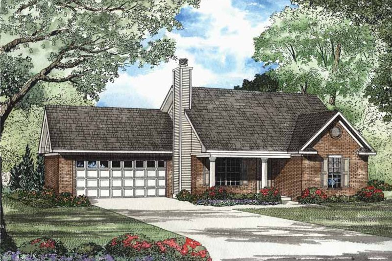 Dream House Plan - Ranch Exterior - Front Elevation Plan #17-2984