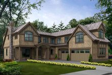 Dream House Plan - Craftsman Exterior - Front Elevation Plan #132-470