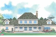European Style House Plan - 3 Beds 2.5 Baths 2889 Sq/Ft Plan #930-205 Exterior - Rear Elevation