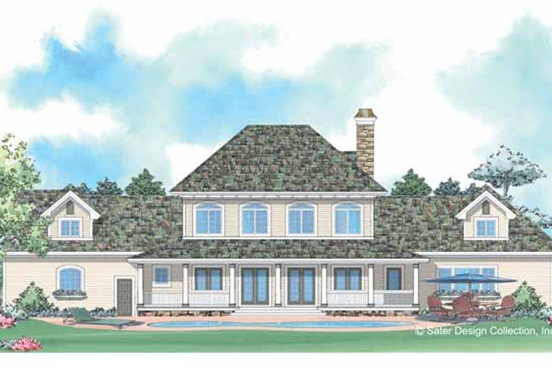 European Exterior - Rear Elevation Plan #930-205 - Houseplans.com