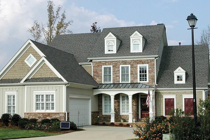 Home Plan - Country Exterior - Front Elevation Plan #54-232