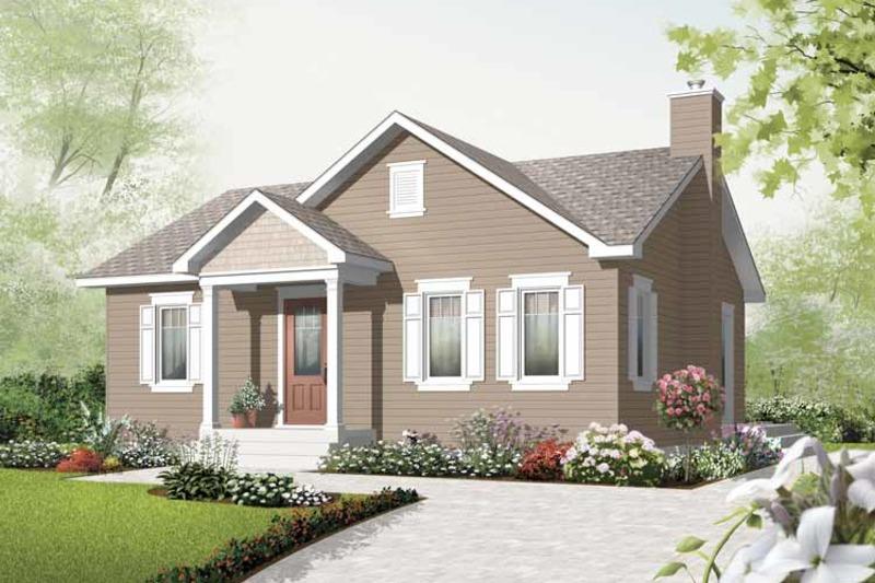 Craftsman Exterior - Front Elevation Plan #23-2374