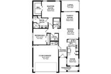 Ranch Floor Plan - Main Floor Plan Plan #1058-100