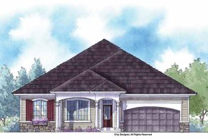Architectural House Design - Country Exterior - Front Elevation Plan #938-12