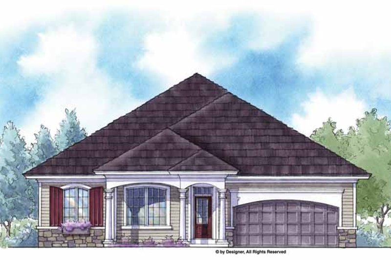 House Plan Design - Country Exterior - Front Elevation Plan #938-12