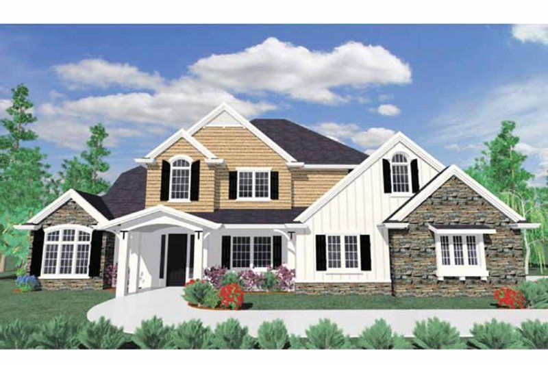 Traditional Exterior - Front Elevation Plan #509-373 - Houseplans.com