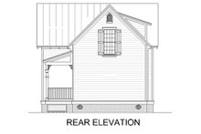 House Blueprint - Cottage Exterior - Rear Elevation Plan #45-589