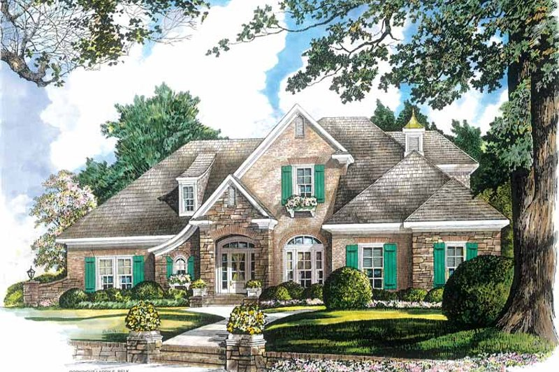 Country Exterior - Front Elevation Plan #952-262