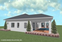 Dream House Plan - Contemporary Exterior - Rear Elevation Plan #930-521