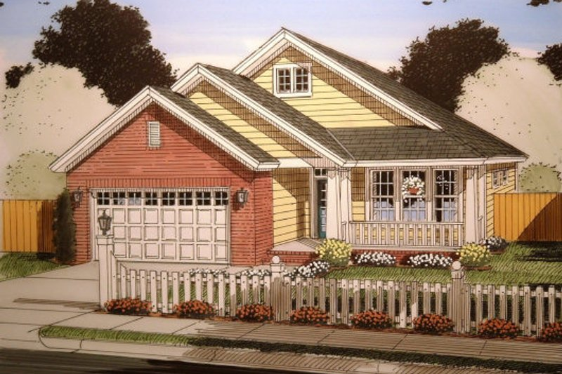 Home Plan - Traditional Exterior - Front Elevation Plan #513-14