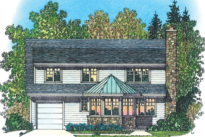 Colonial Exterior - Rear Elevation Plan #1016-105 - Houseplans.com