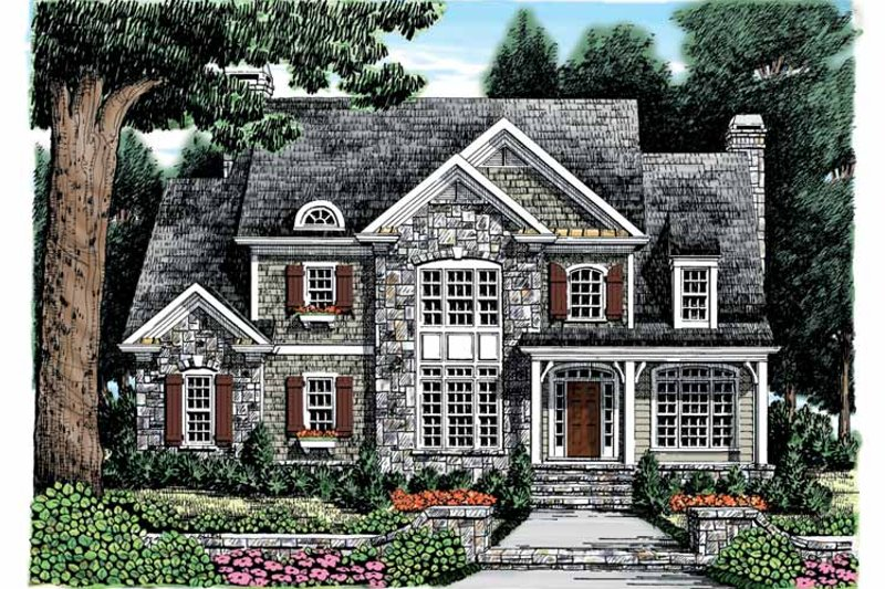 Country Exterior - Front Elevation Plan #927-869
