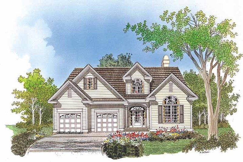 Traditional Exterior - Front Elevation Plan #929-512 - Houseplans.com