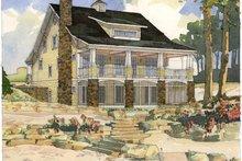 Bungalow Exterior - Rear Elevation Plan #928-22