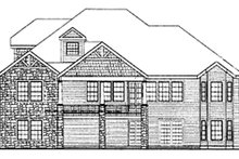 Craftsman Exterior - Rear Elevation Plan #314-290