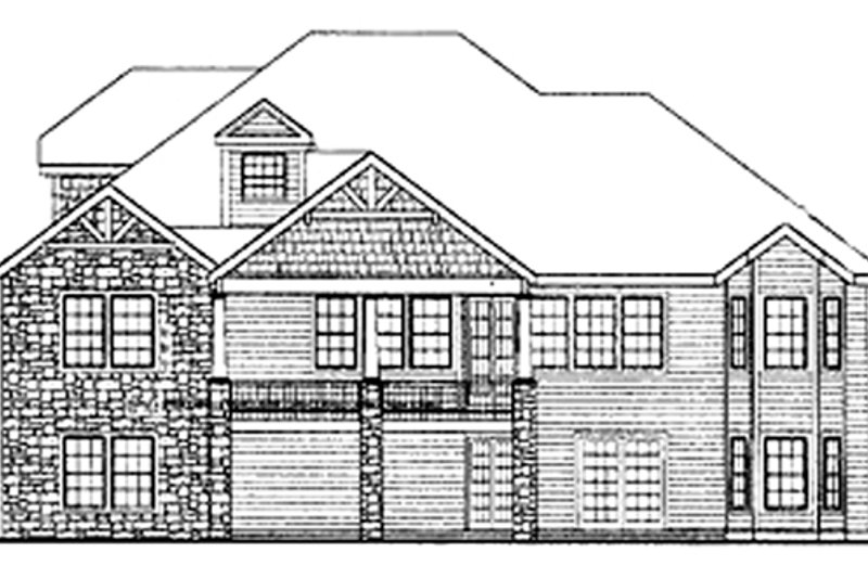 Craftsman Exterior - Rear Elevation Plan #314-290 - Houseplans.com