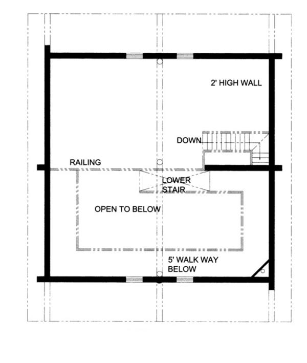 Log Floor Plan - Other Floor Plan Plan #117-822