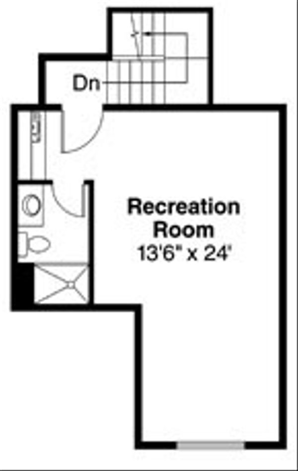 Traditional Floor Plan - Upper Floor Plan Plan #124-768