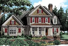House Plan Design - Colonial Exterior - Front Elevation Plan #927-436