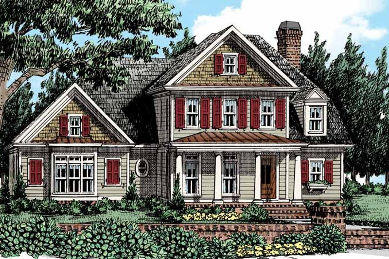 Colonial Exterior - Front Elevation Plan #927-436