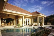 Mediterranean Style House Plan - 3 Beds 4.5 Baths 4534 Sq/Ft Plan #930-104 Exterior - Rear Elevation