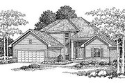 Traditional Style House Plan - 3 Beds 2.5 Baths 1972 Sq/Ft Plan #70-258 Exterior - Front Elevation