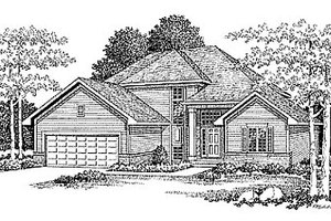 Traditional Exterior - Front Elevation Plan #70-258