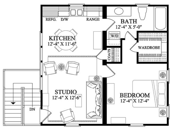 Traditional Floor Plan - Upper Floor Plan Plan #137-368