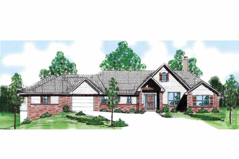 Country Exterior - Front Elevation Plan #52-242 - Houseplans.com