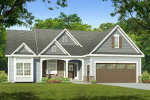 Ranch Exterior - Front Elevation Plan #1010-218