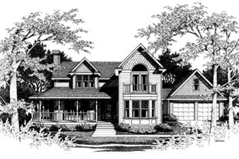 Victorian Style House Plan - 4 Beds 2.5 Baths 2448 Sq/Ft Plan #10-211 Exterior - Front Elevation