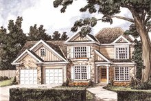 Home Plan - Traditional Exterior - Front Elevation Plan #927-717