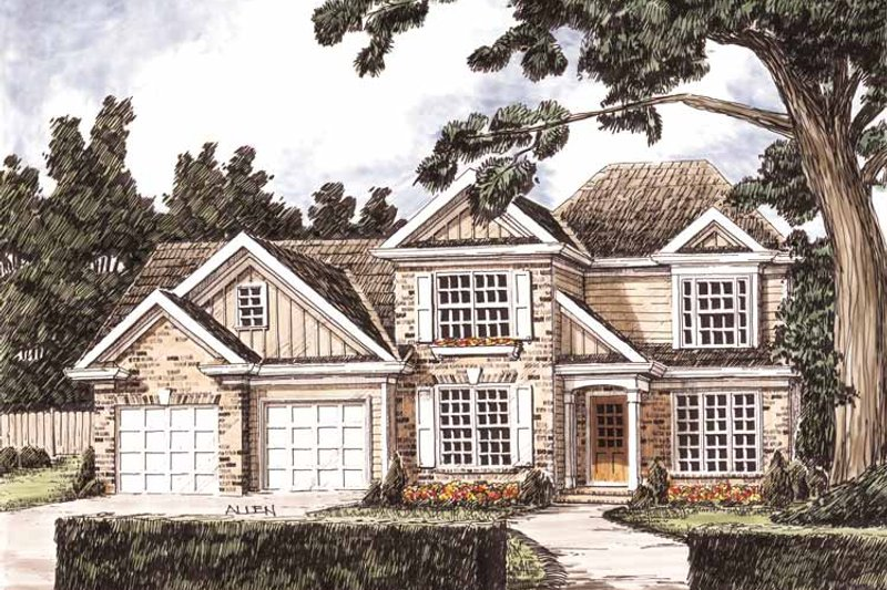Traditional Exterior - Front Elevation Plan #927-717 - Houseplans.com